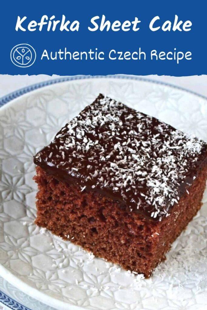 kefírová buchta sheet cake