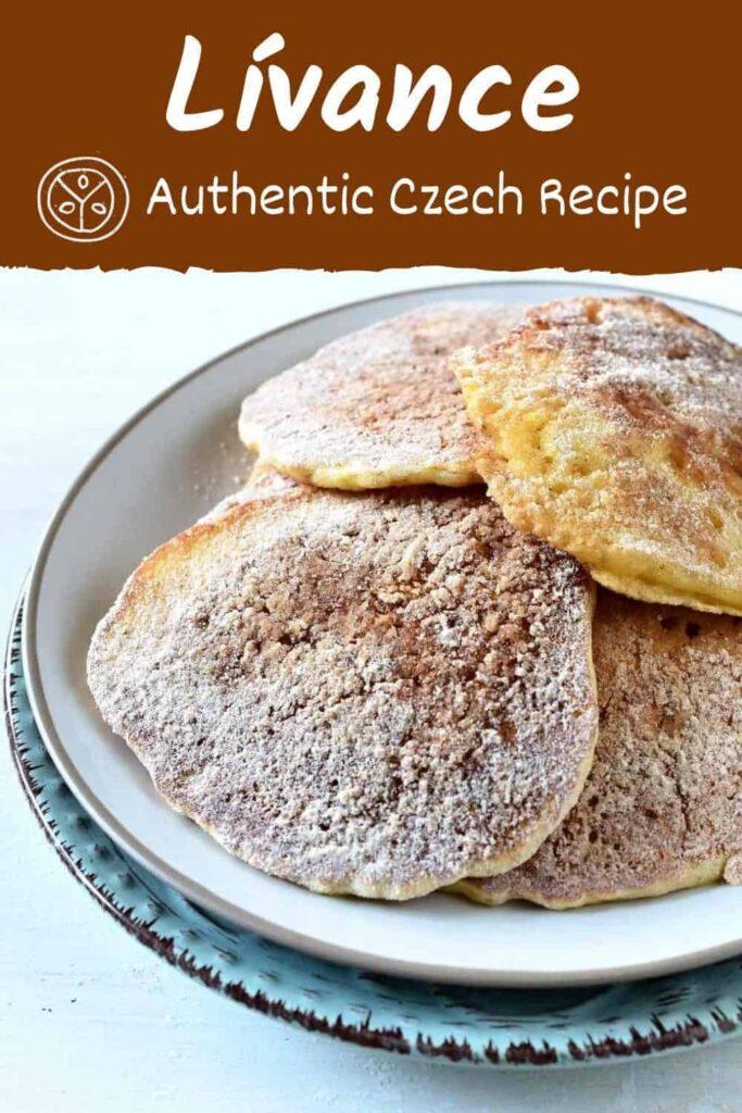 Czech authentic recipe for lívance, pancakes