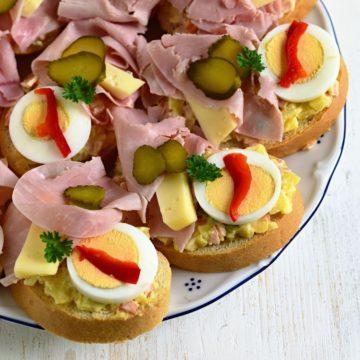 chlebíček open face sandwich