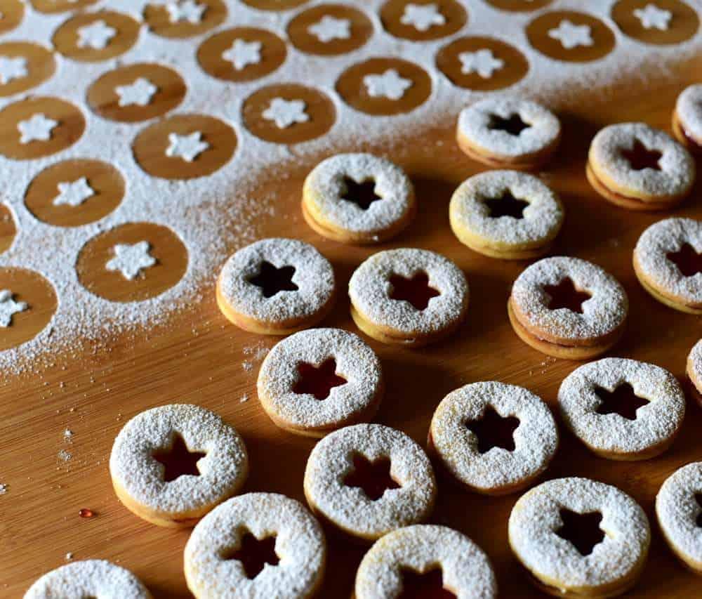 linecké cukroví cookies