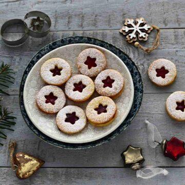 linecké cukroví czech linzer cookies