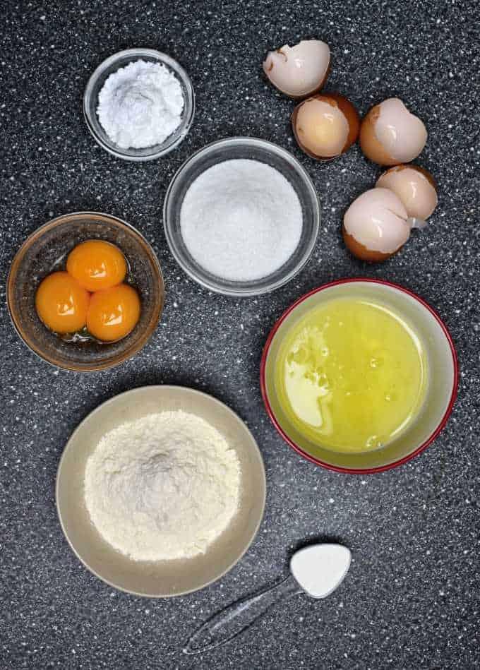 ingredients dětské piškoty Czech crispy biscuits