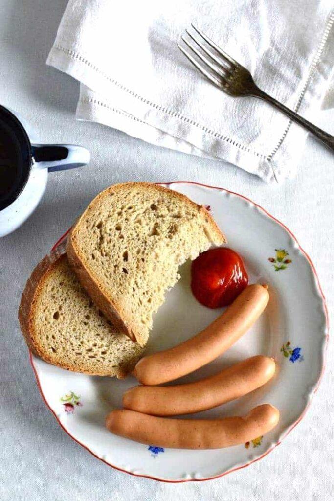 czech breakfast sausages ketchup