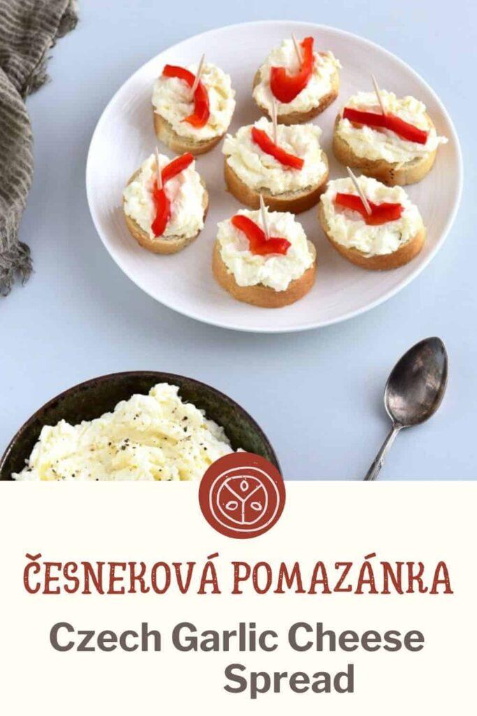 Czech Garlic Spread on Jednohubky recipe