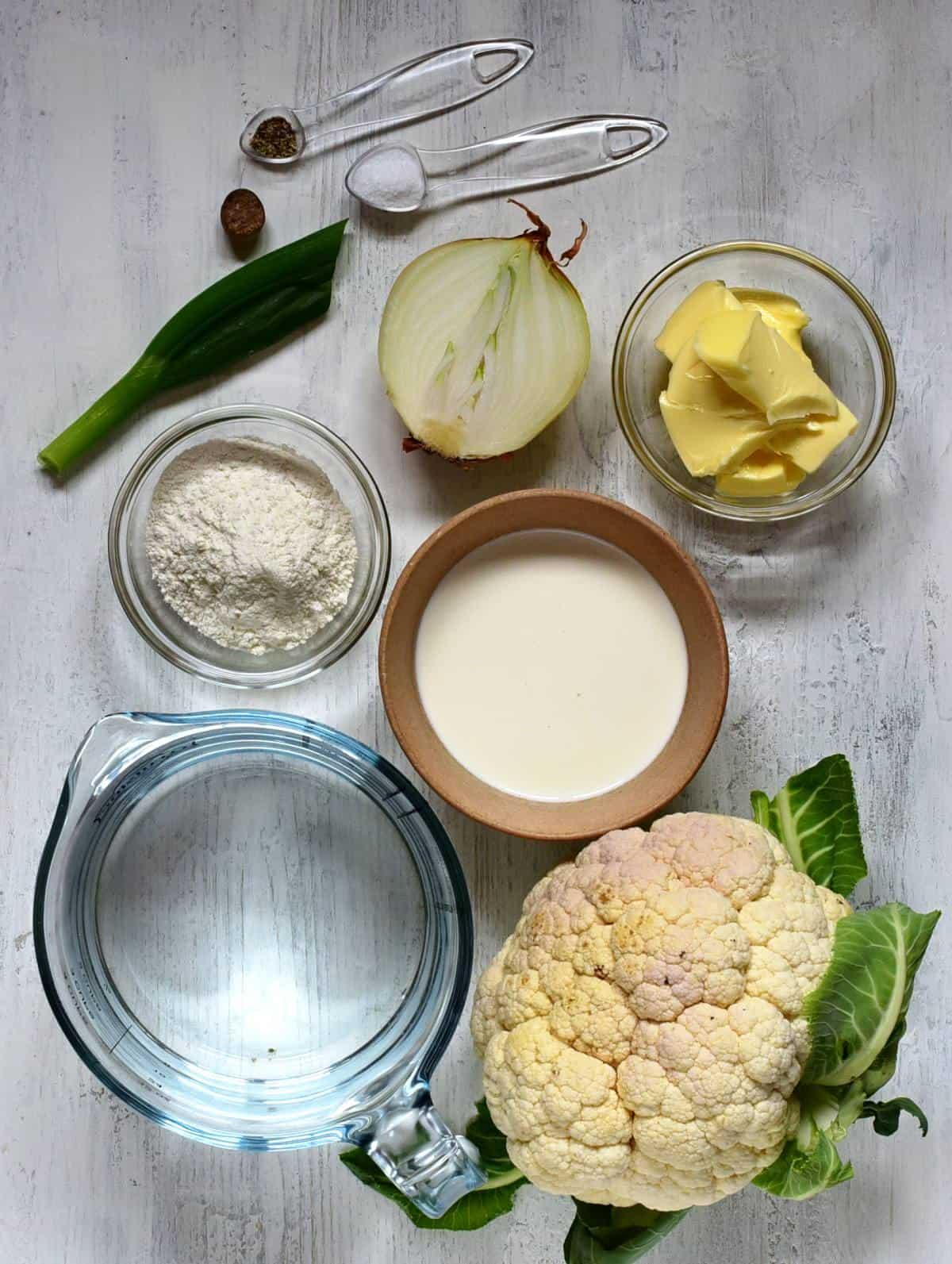 cauliflower soup ingredients