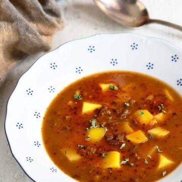 czech goulash soup