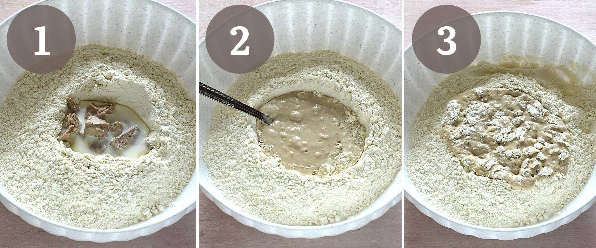 making czech moravské kolace, yeasted dough