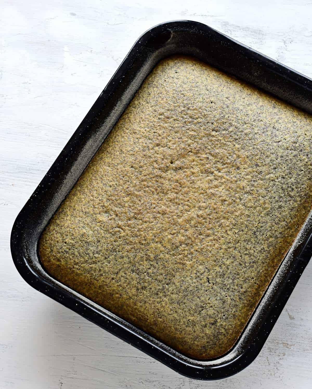 baked poppy seed cake