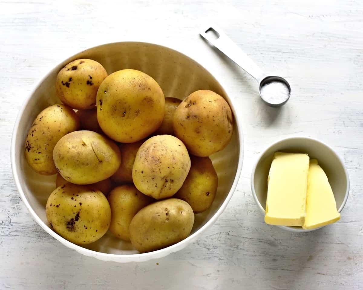 potatoes, salt and butter
