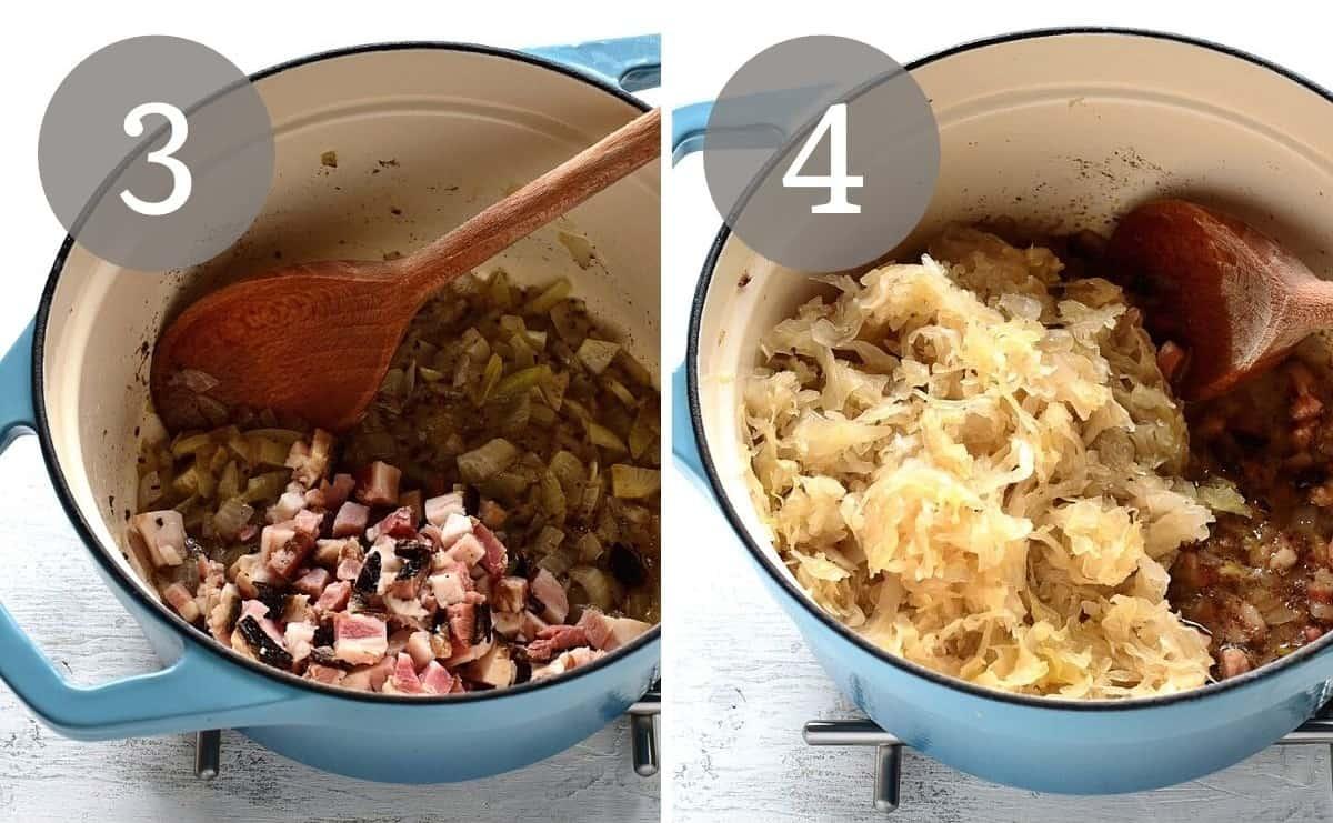 braised sauerkraut preparation