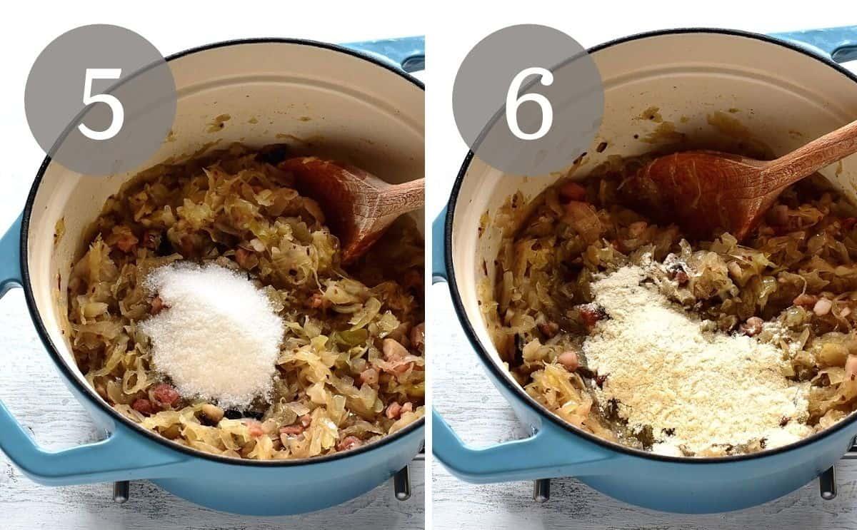 making braised sauerkraut