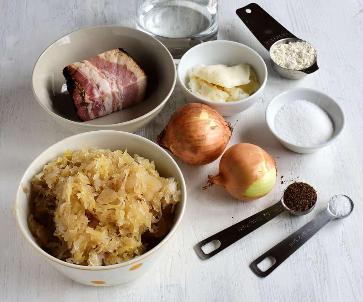 braised sauerkraut ingredients