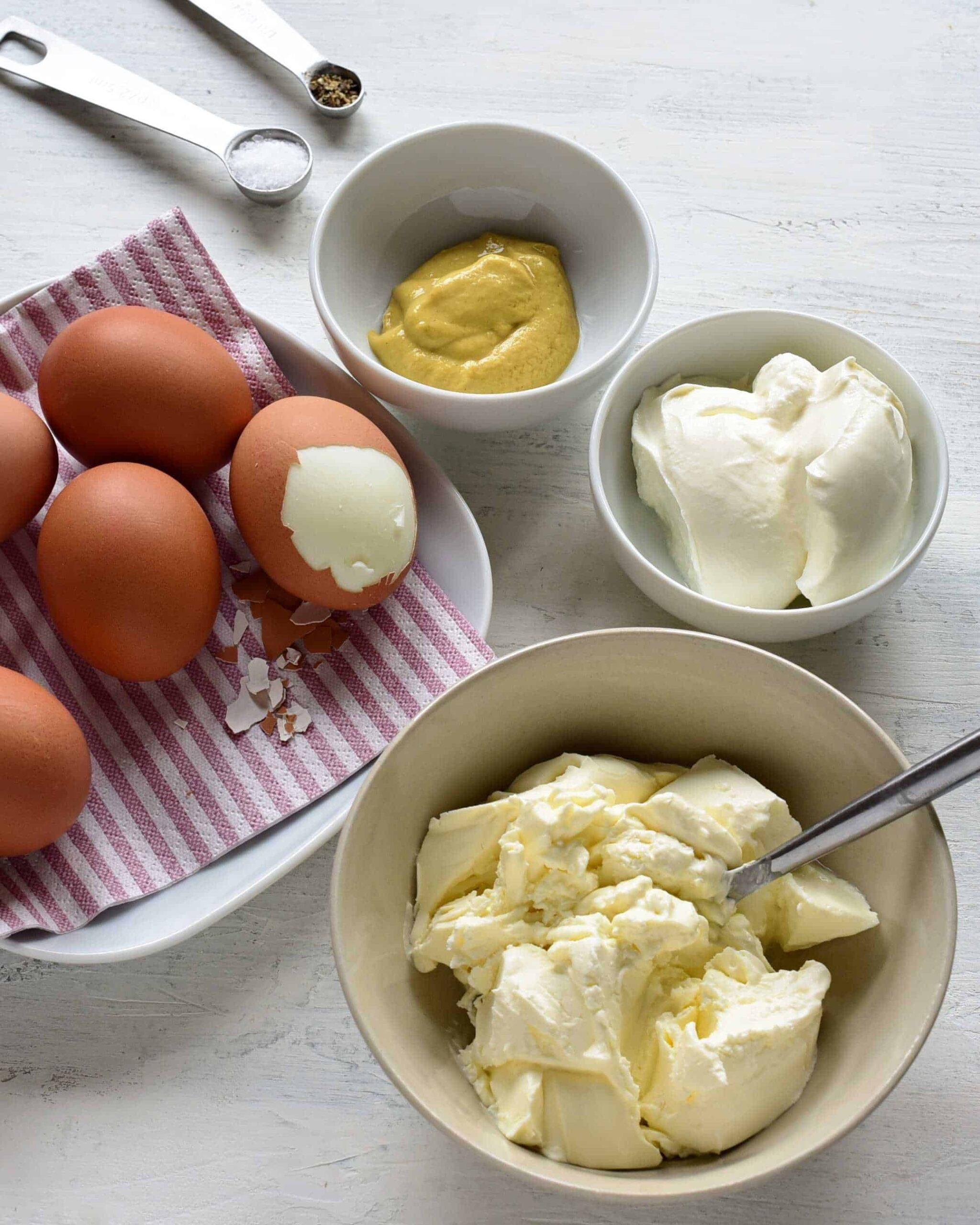 egg salad vajíčková pomazánka Czech, ingredients