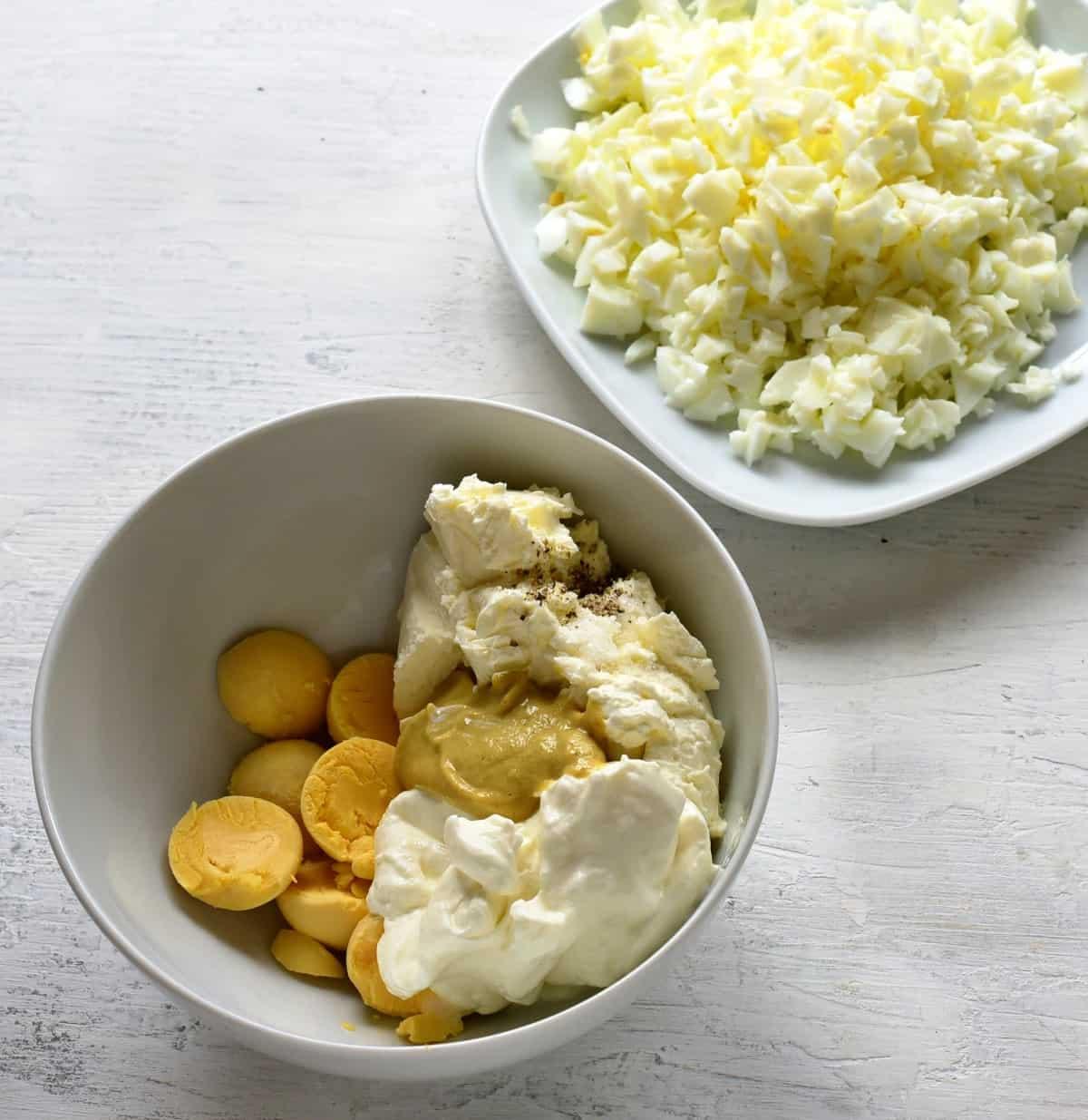 making egg salad