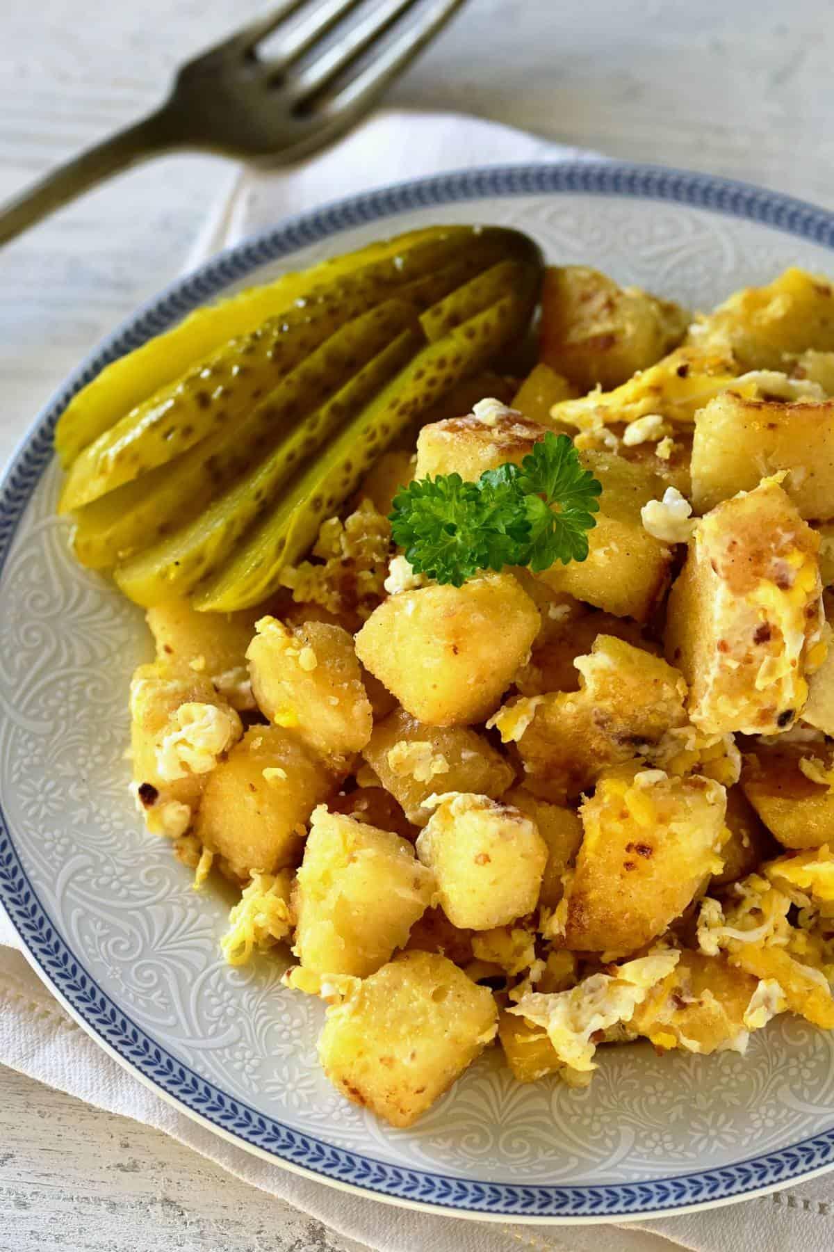 knedlíky s vejci dumplings with eggs