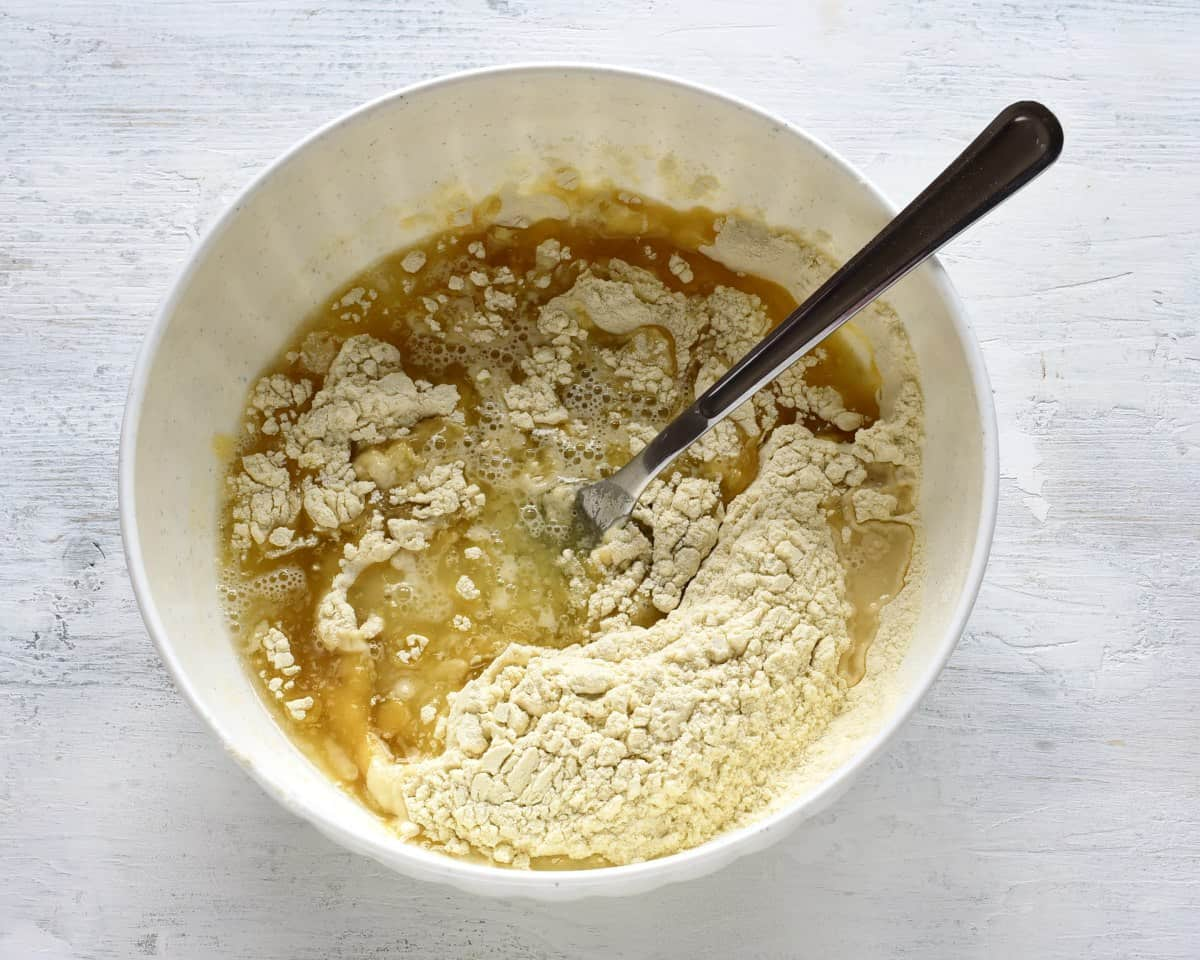 making strudel dough