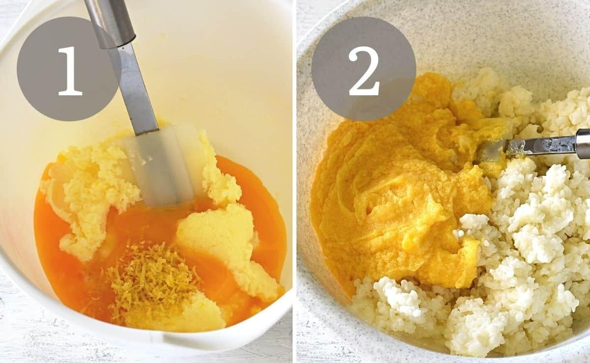 making rýžový nákyp rice pudding