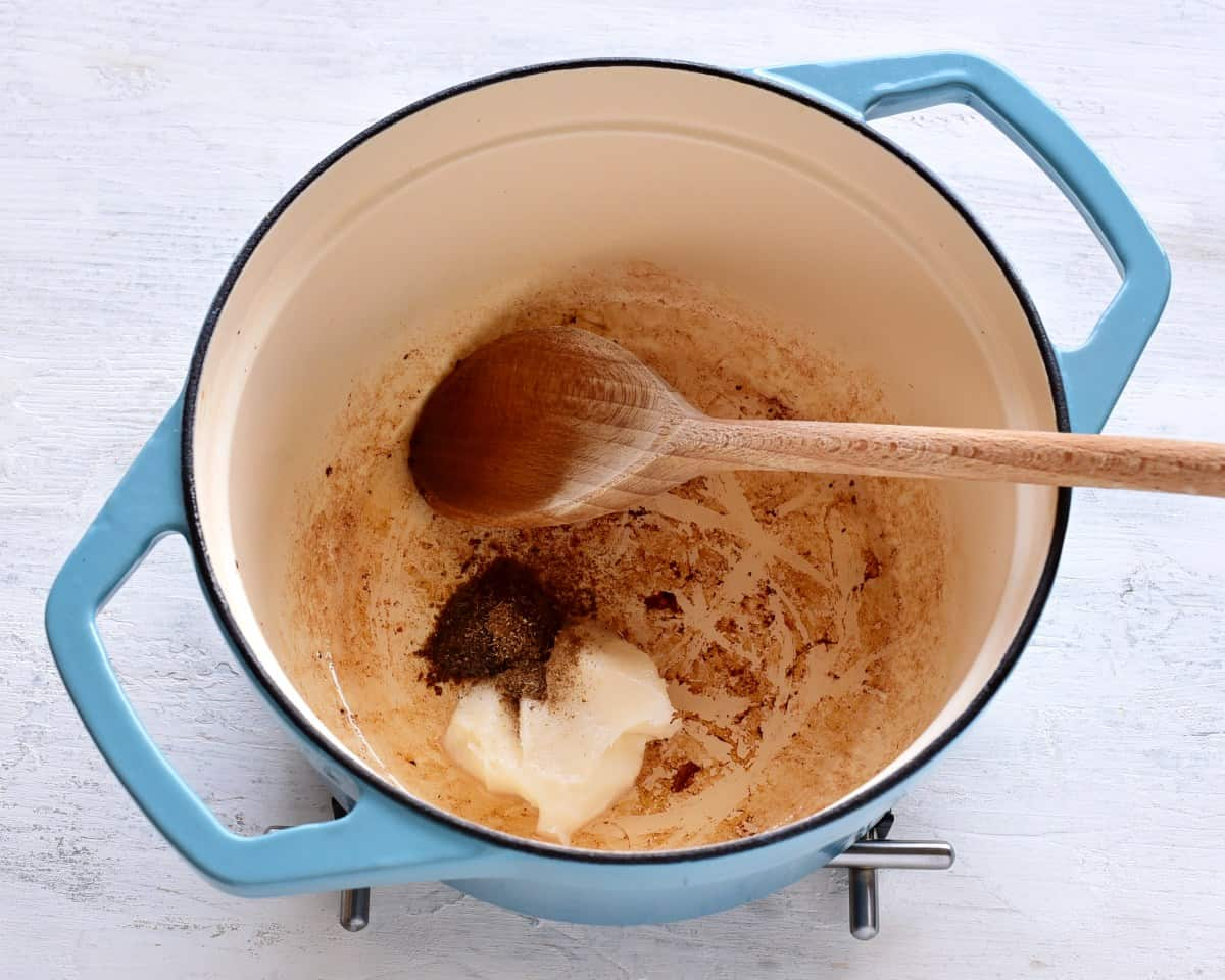 making szeged goulash prep