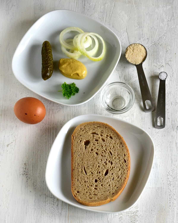 ingredients smaženka bread