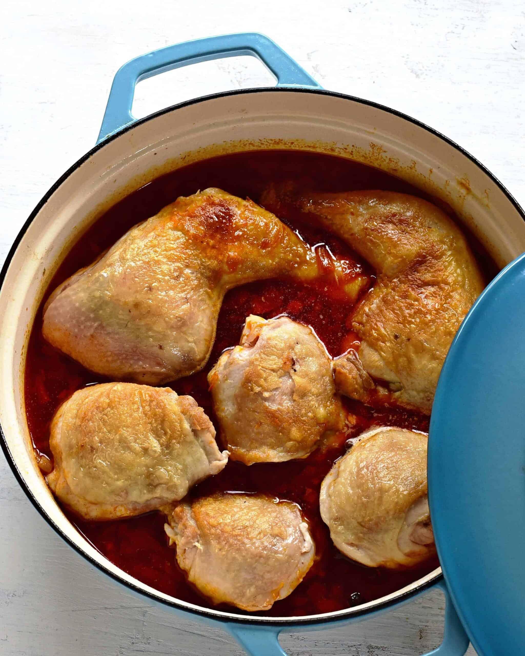 making chichen paprikash