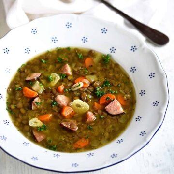 czech lentil soup recipe čočková polévka