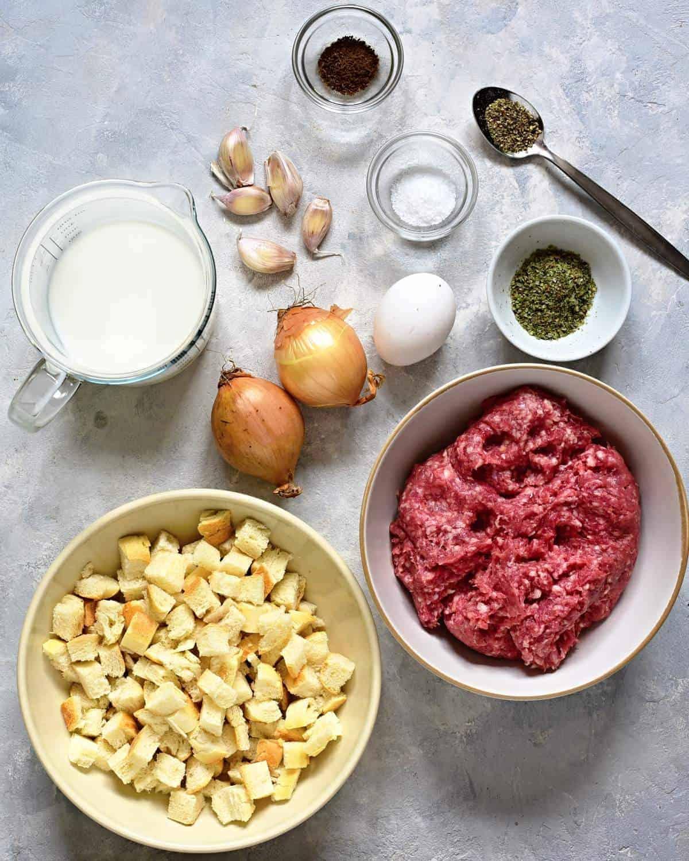 czech meatloaf ingredients