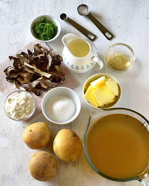ingredients czech kulajda soup