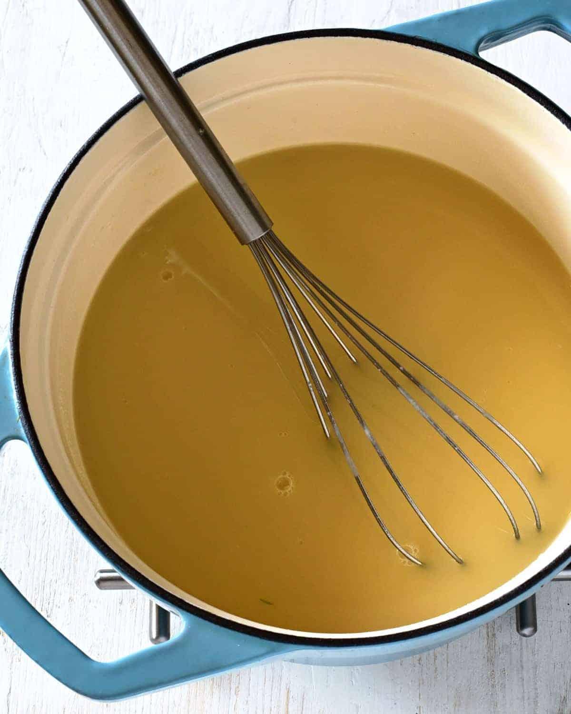 making kulajda soup