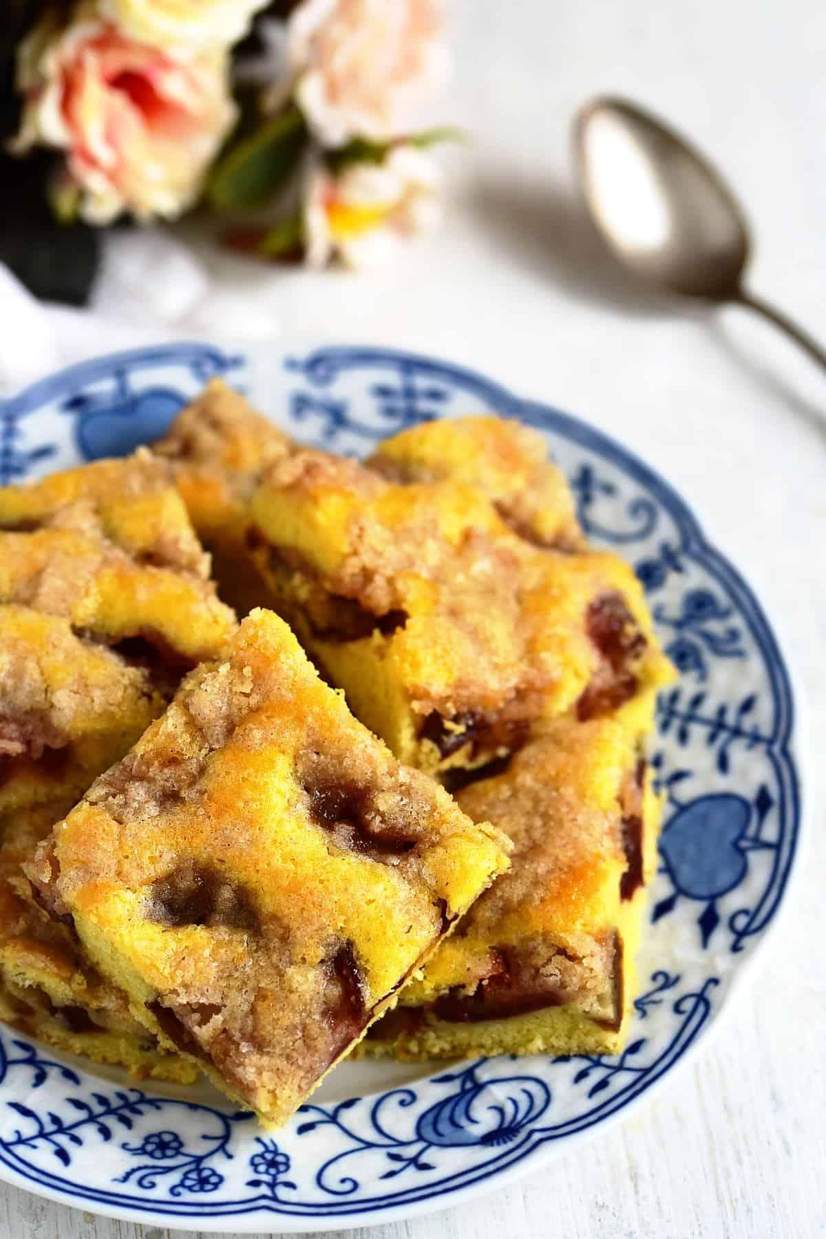 plum streusel coffee cake