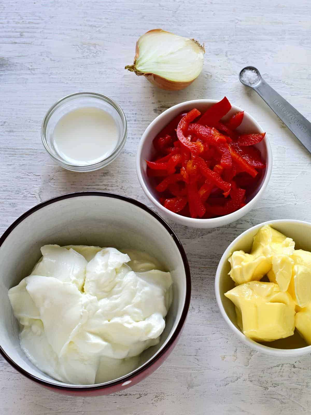 cream cheese red pepper spread ingredients