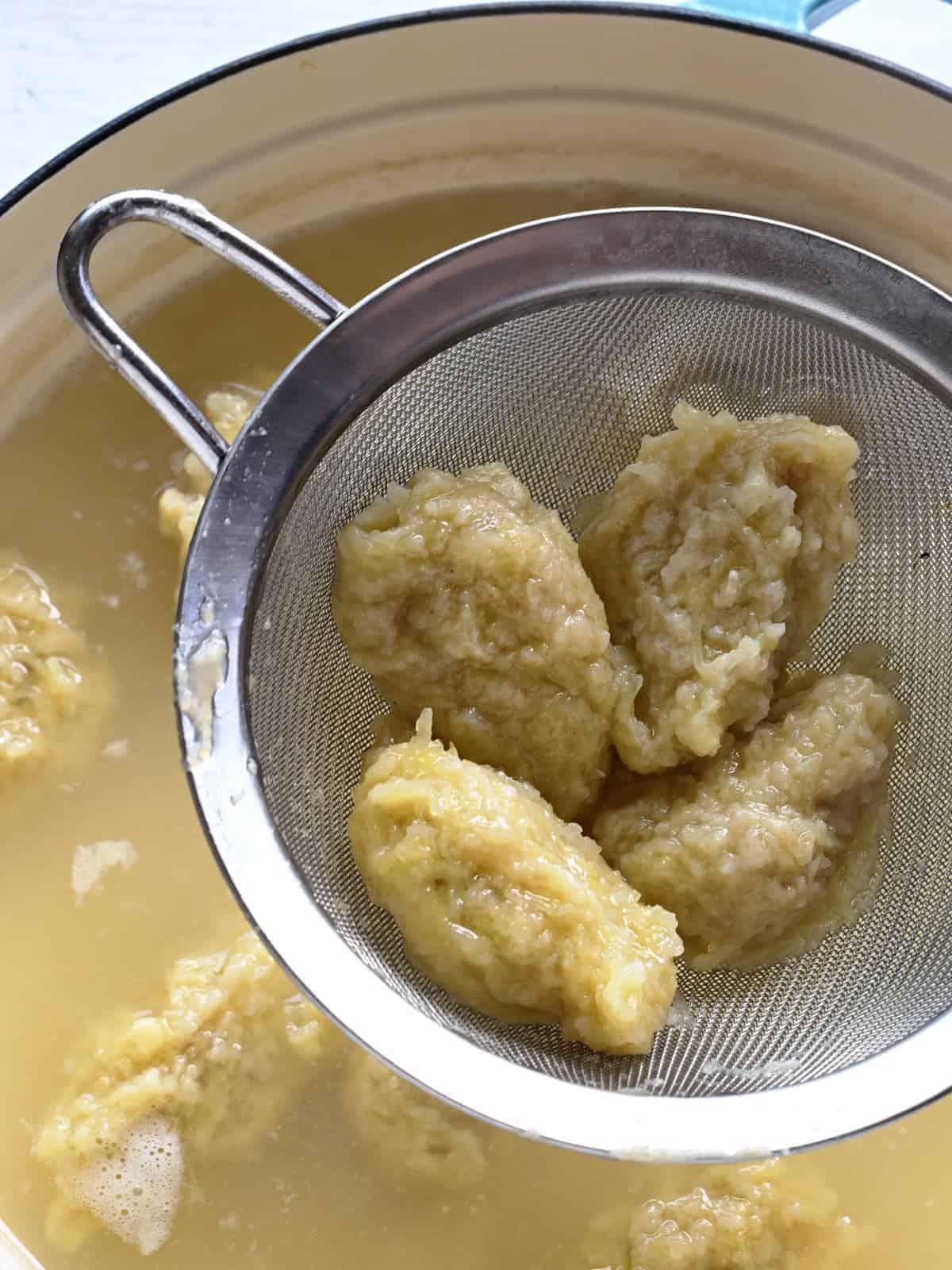 COOKING chlupaté potato dumplings czech