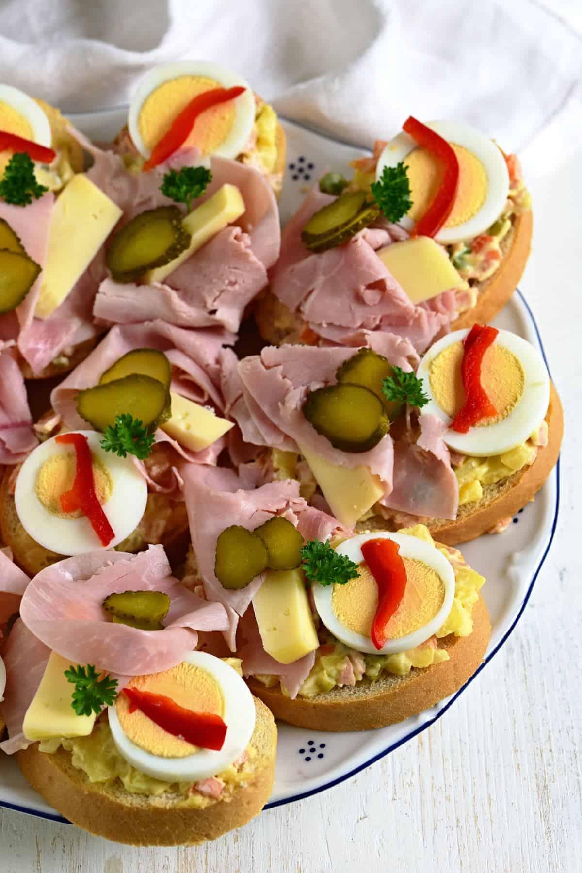 chlebíčky open face sandwiches