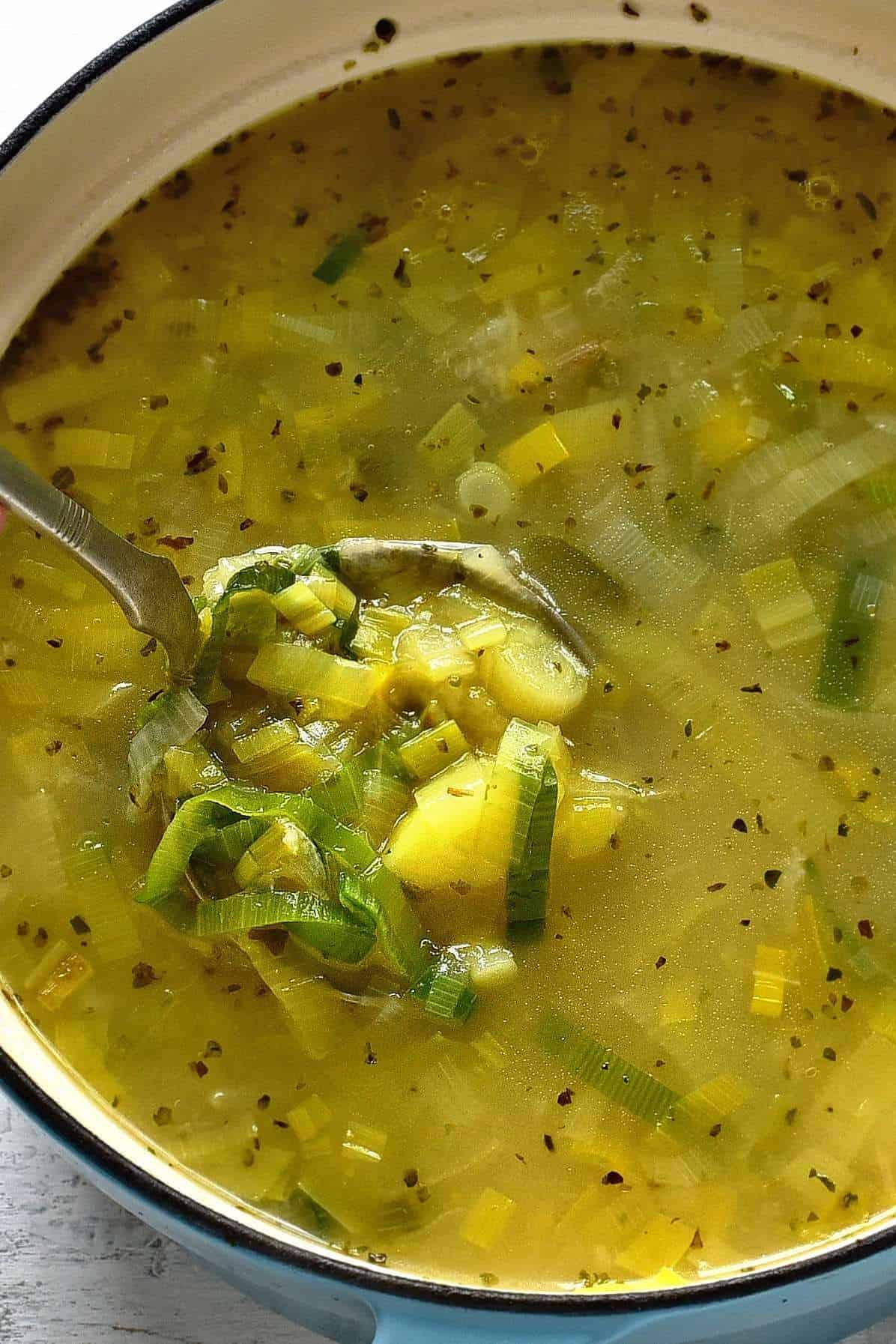 leek potato soup czech porkova polevka