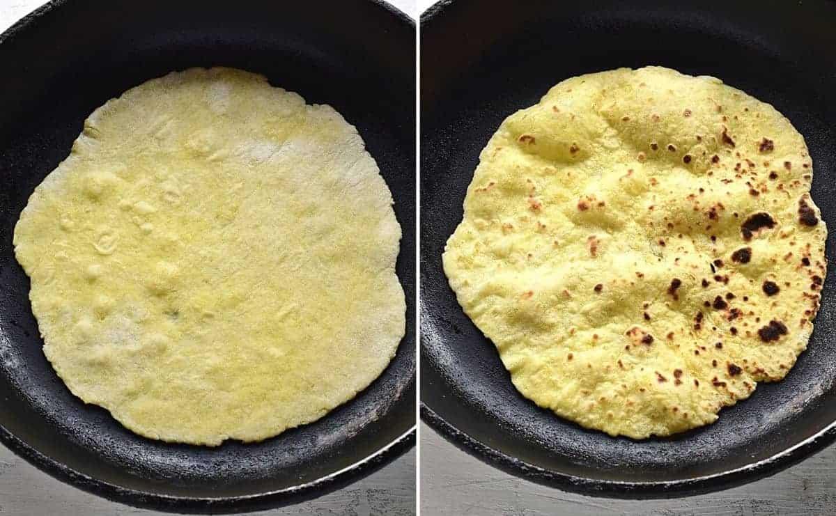 frying lokše