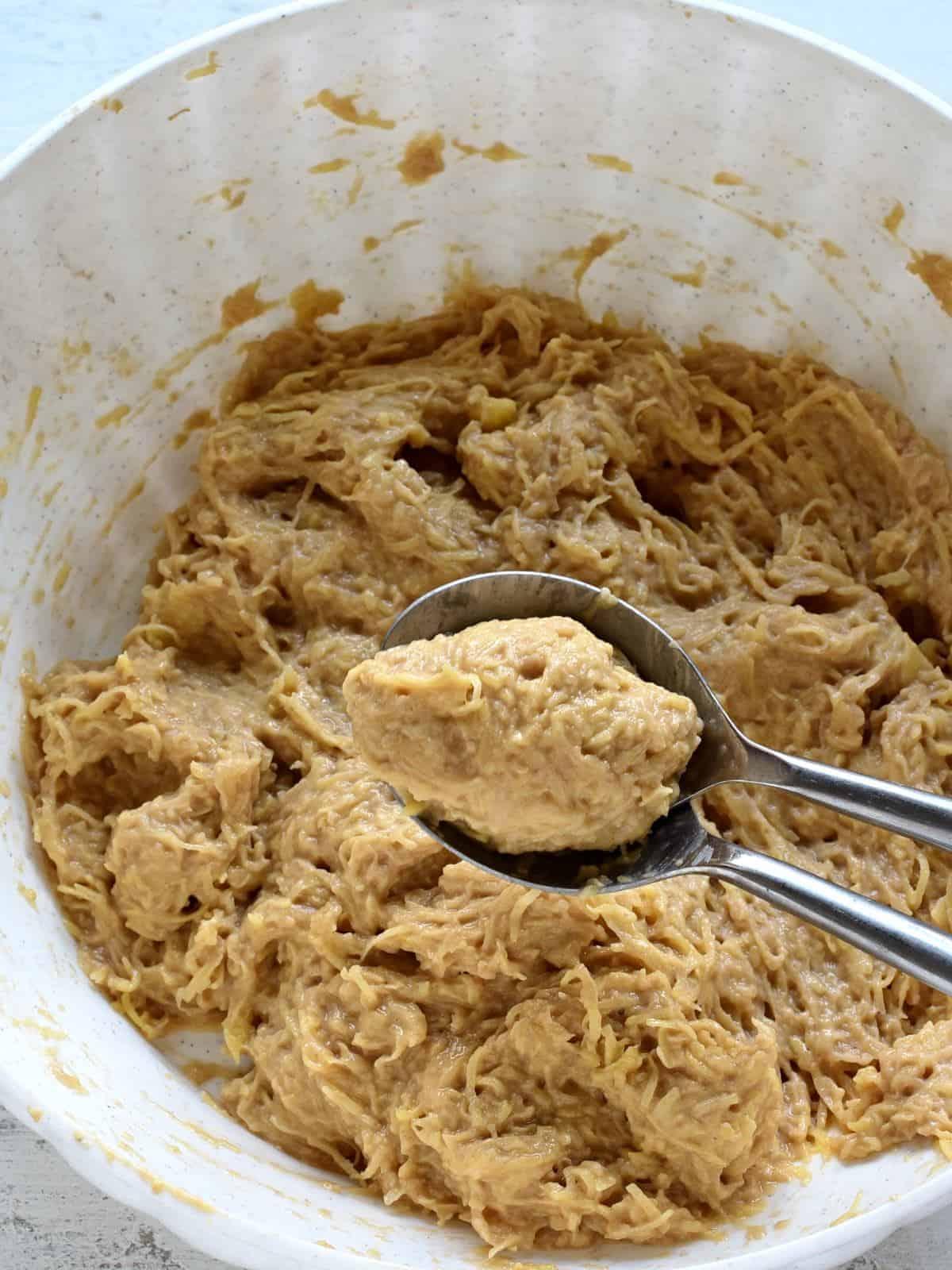 forming chlupaté knedlíky potato dumplings