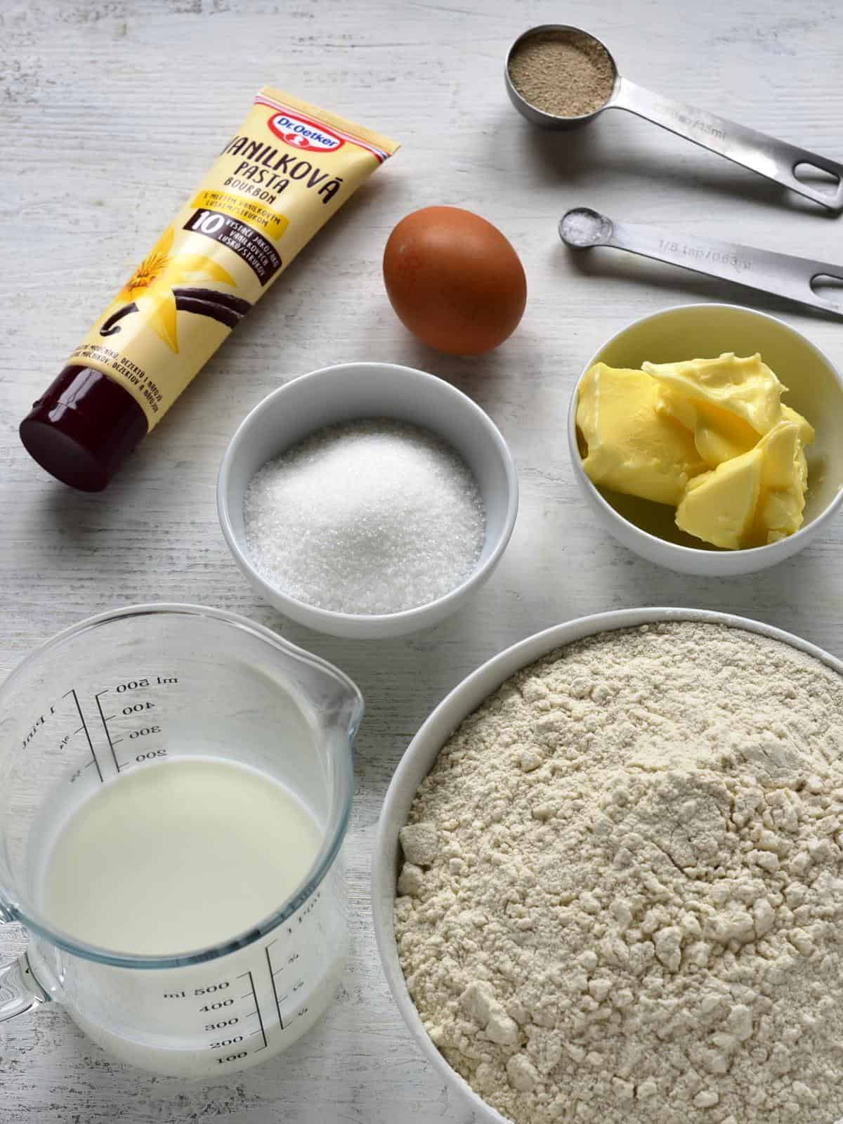 indredients yeast dough