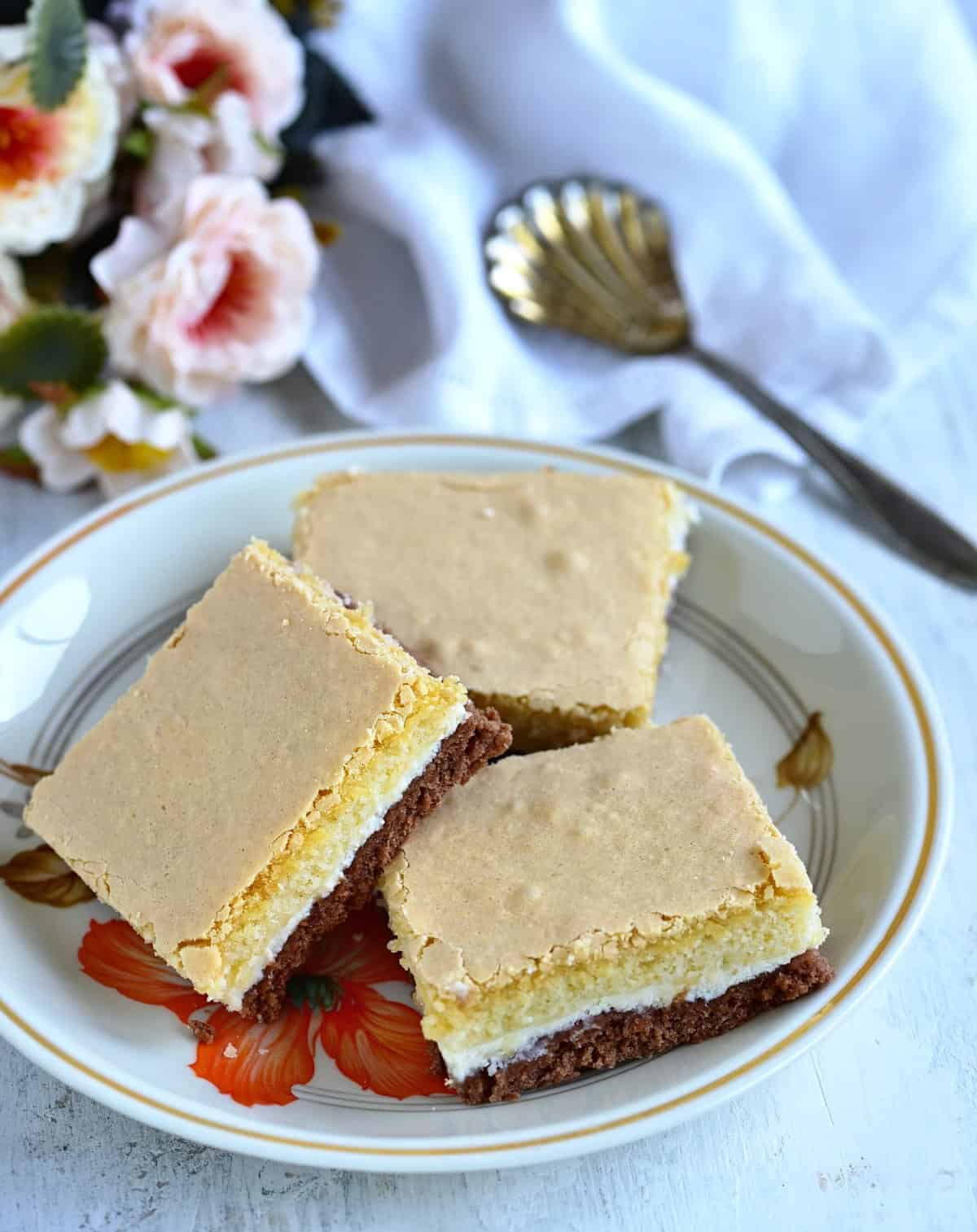 three layer sheet cake