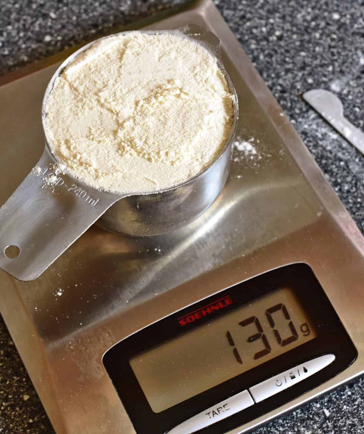 u.s. cup flour to metric scale