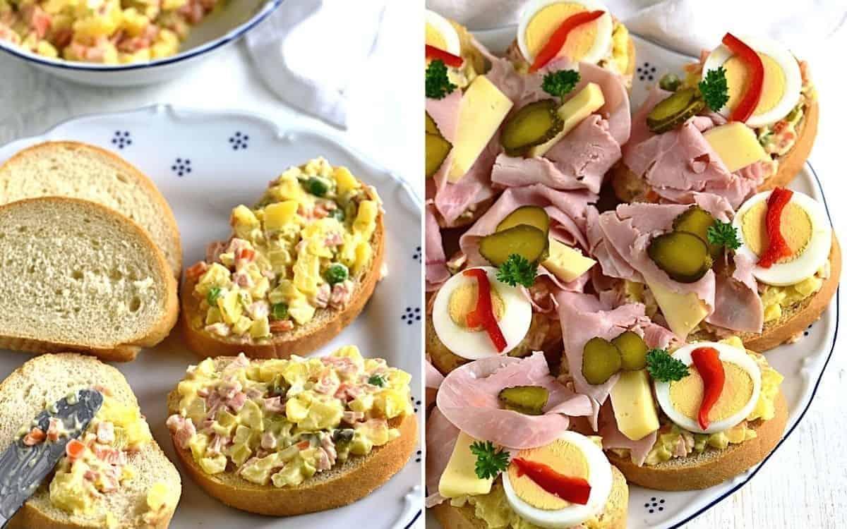 czech vlassky salat chlebicky open-faced sandwich