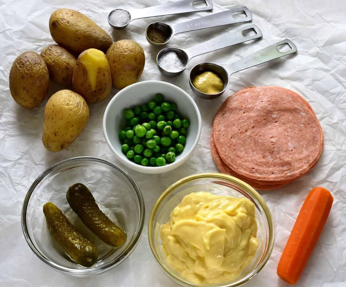 vlašský salát ingredients