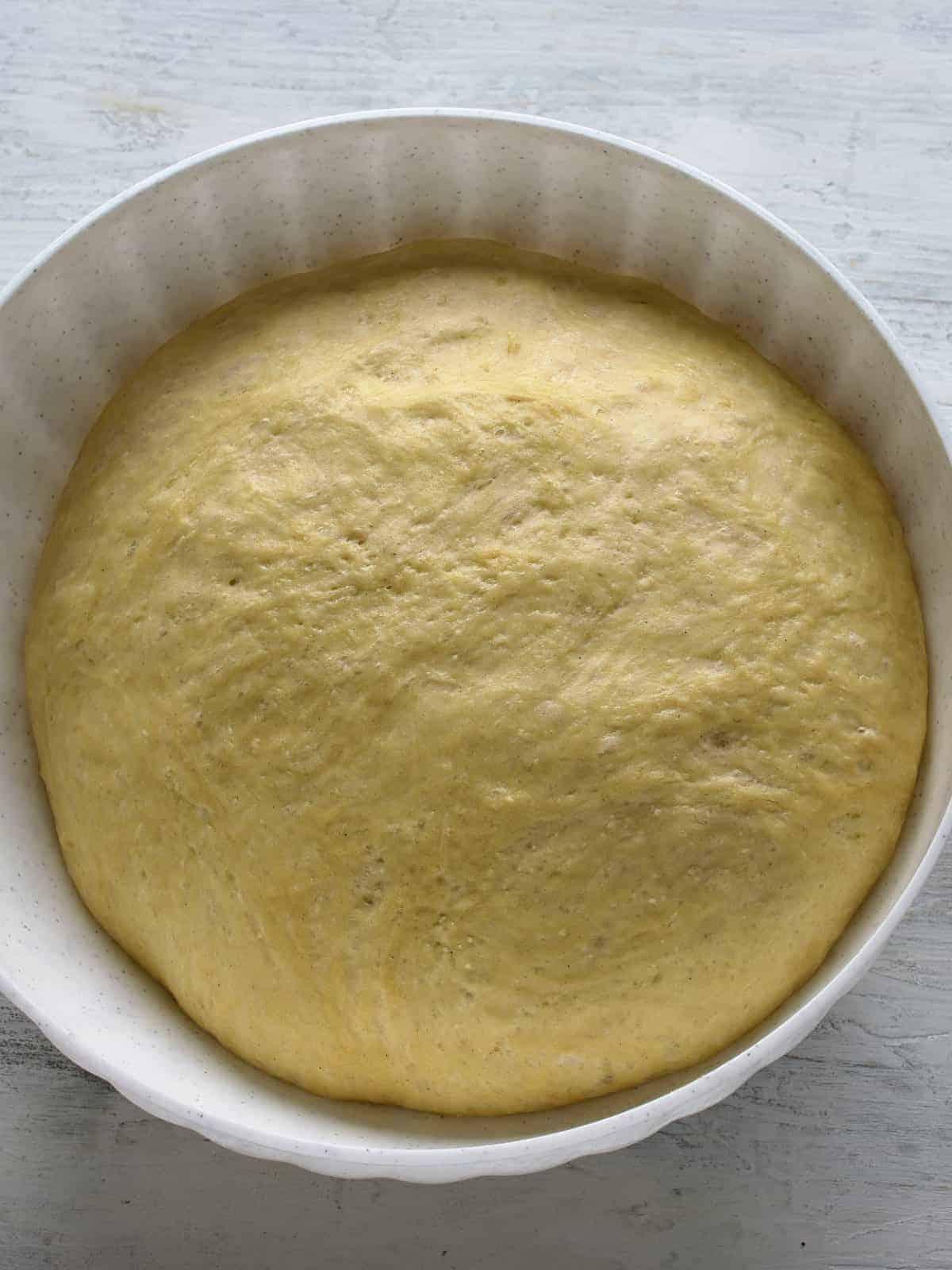yeast dough proofed