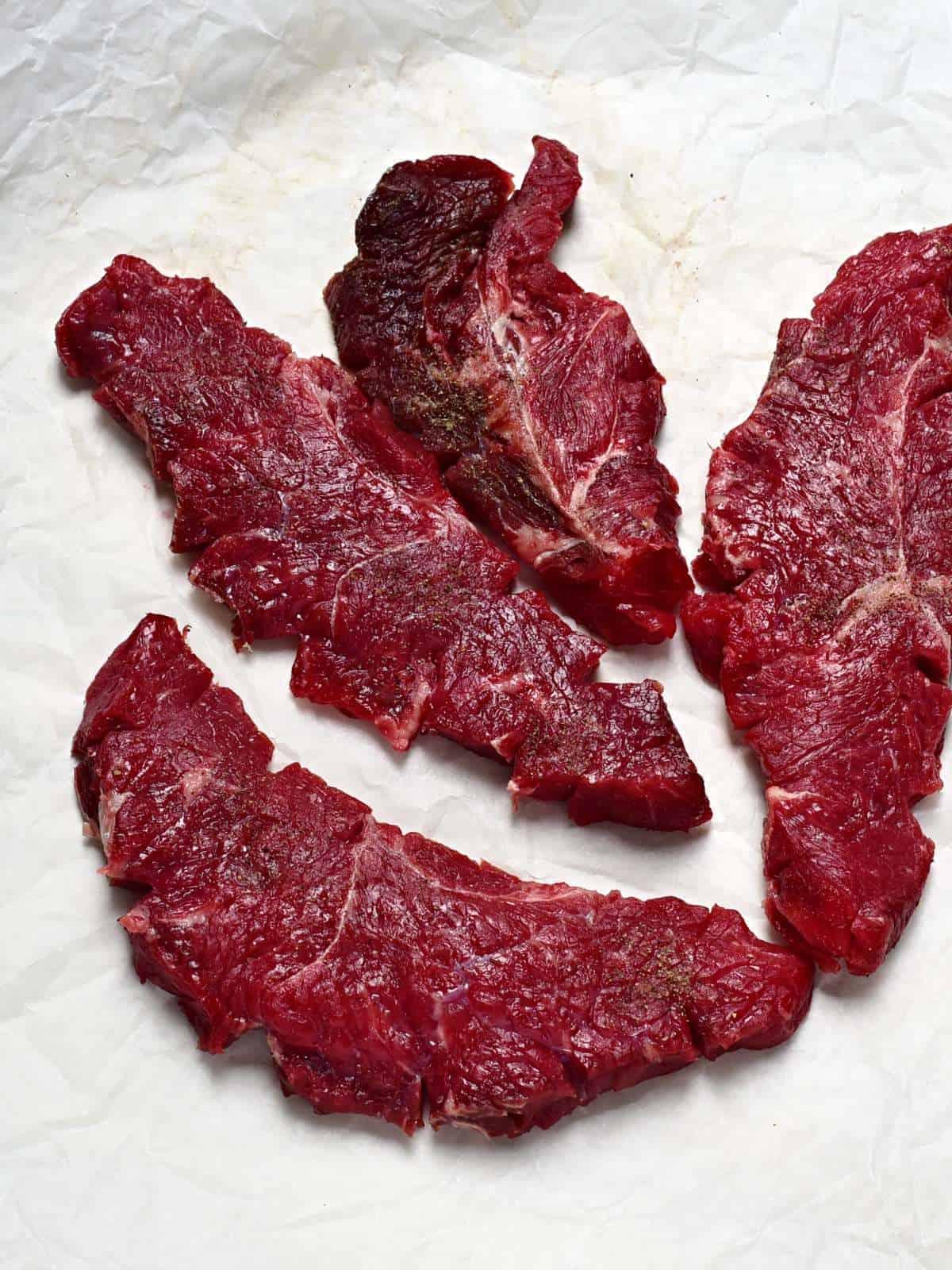 making czech beef slices roštěnky