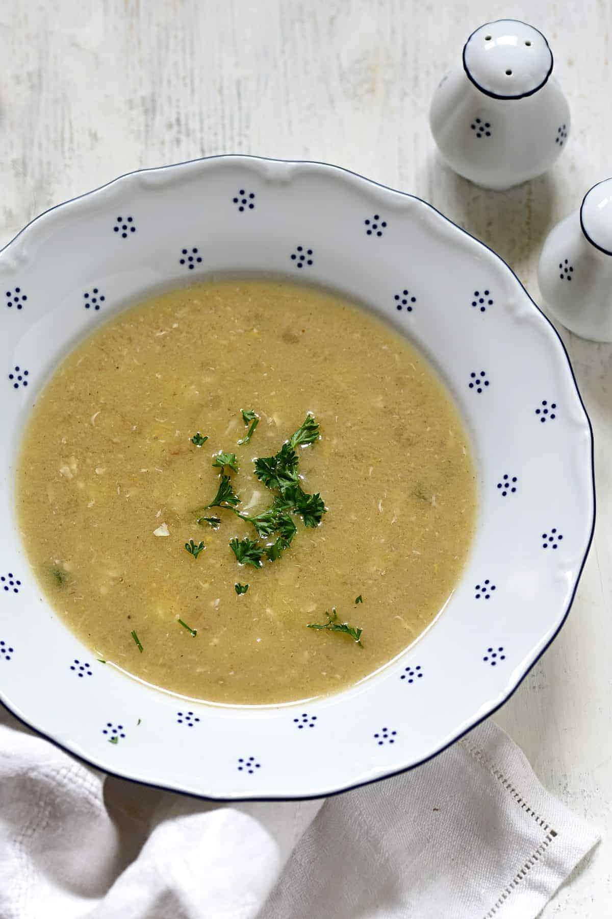 czech kmínová polévka caraway seed soup