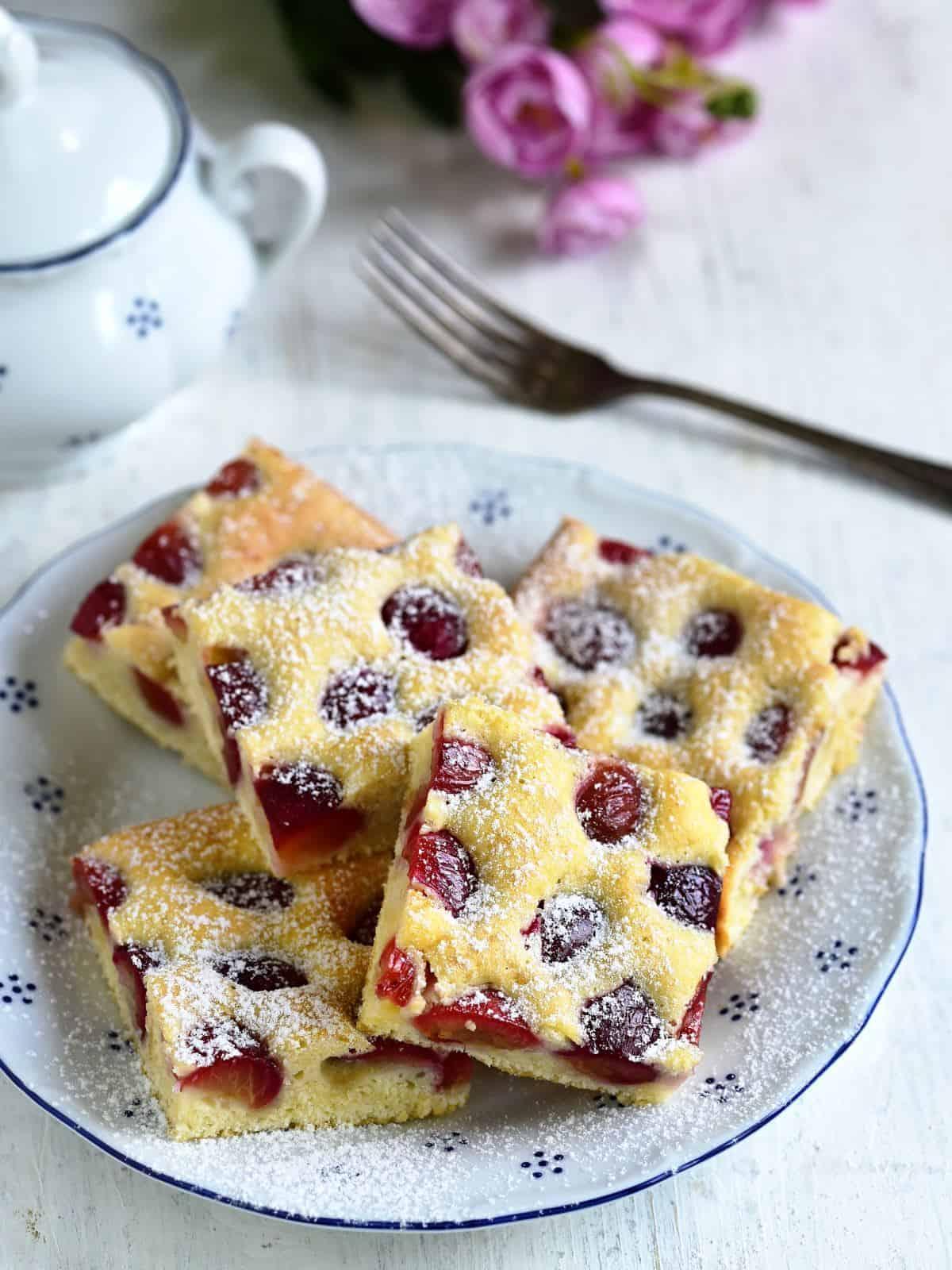 Czech bublanina fruit coffee cake