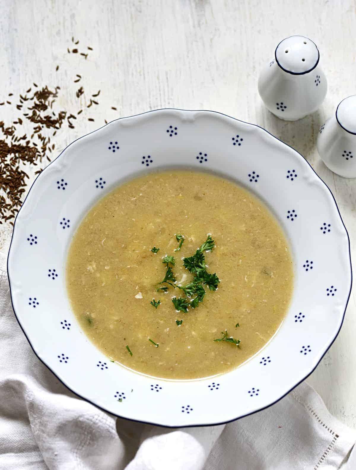 caraway soup Czech kmínová polévka recipe