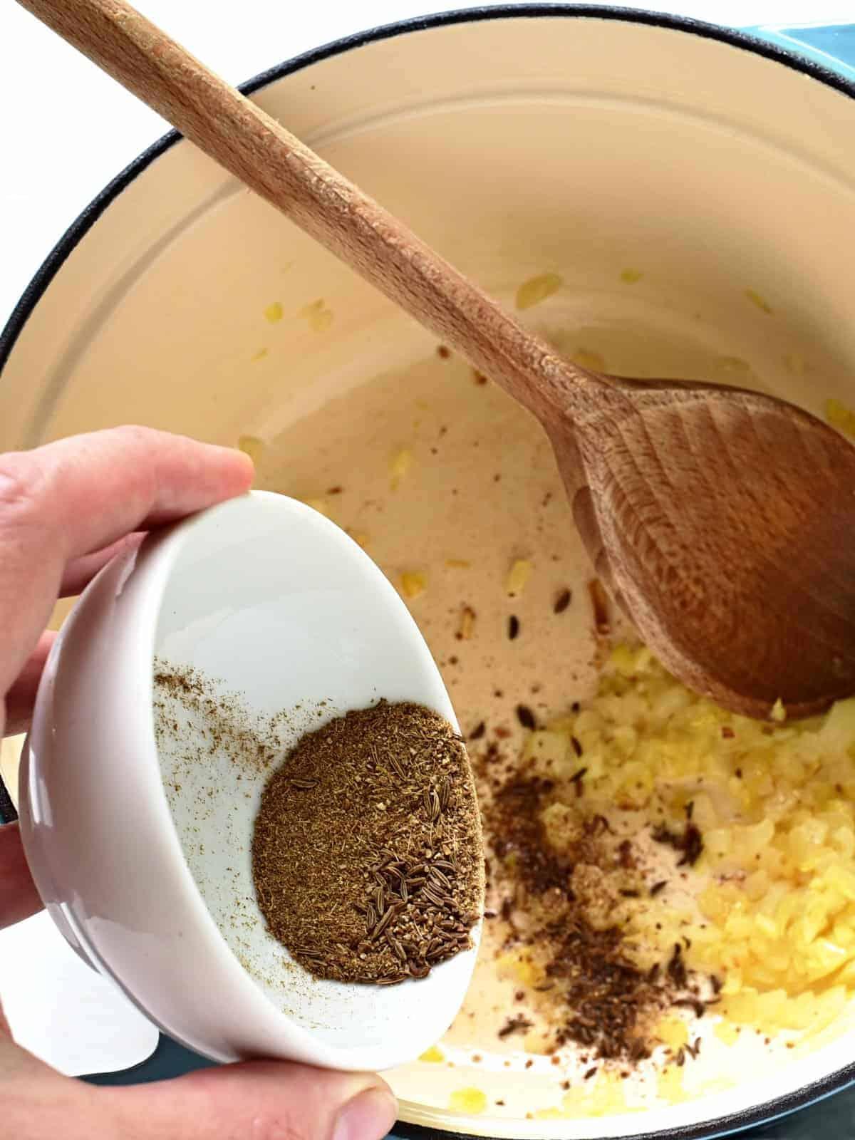 adding caraway seeds