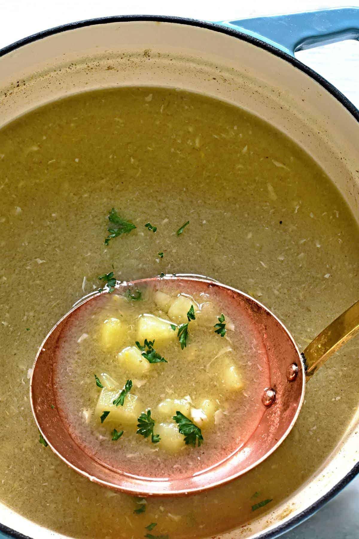 czech caraway soup kmínová polévka