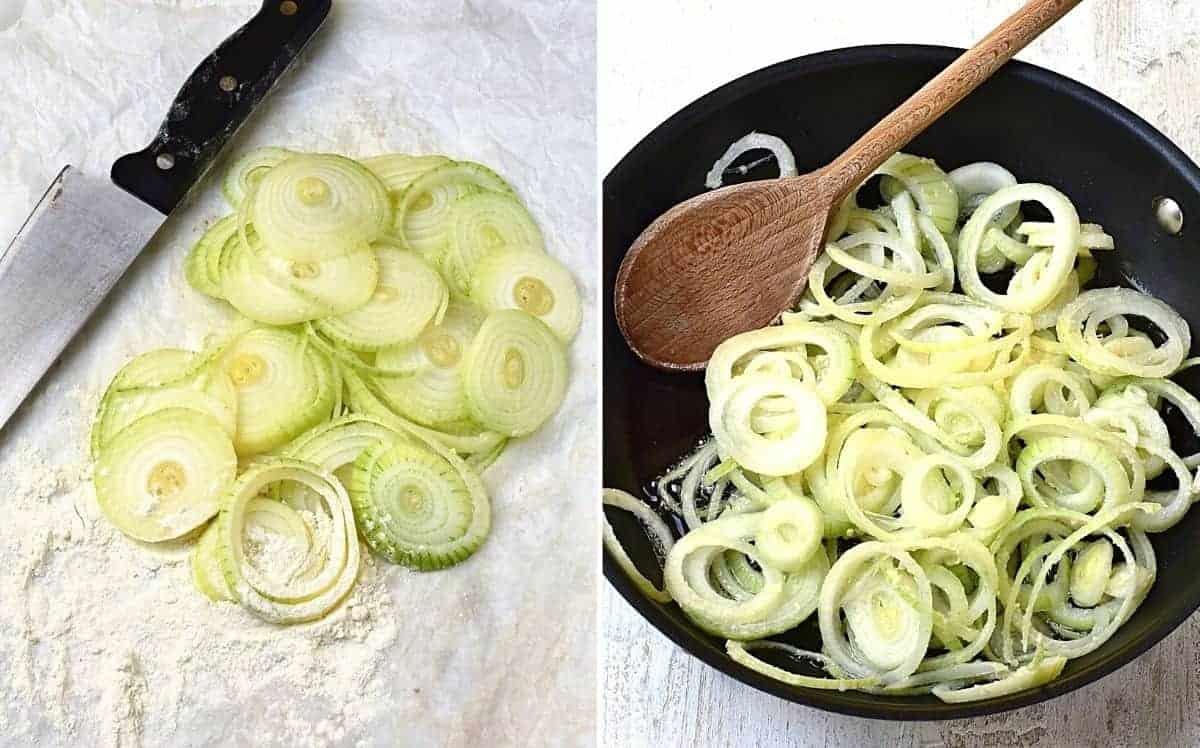 frying onions