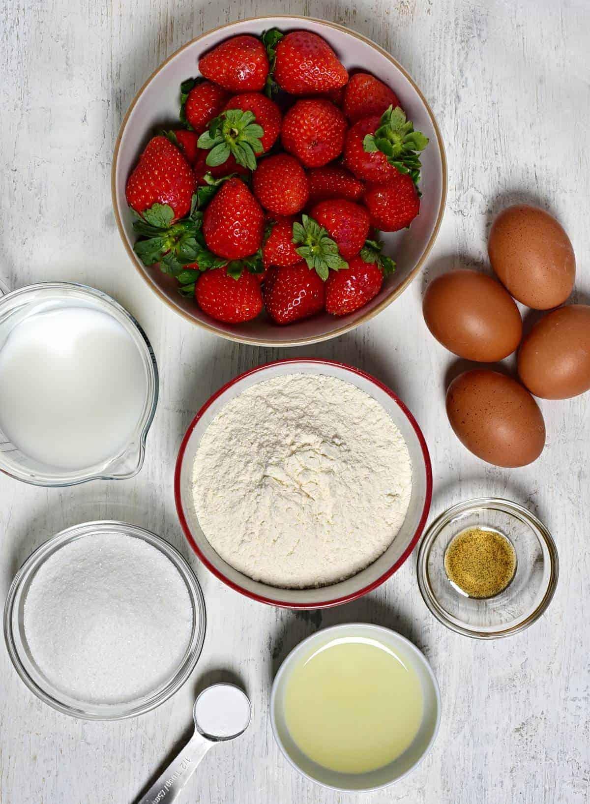 Strawberry coffee cake ingredients
