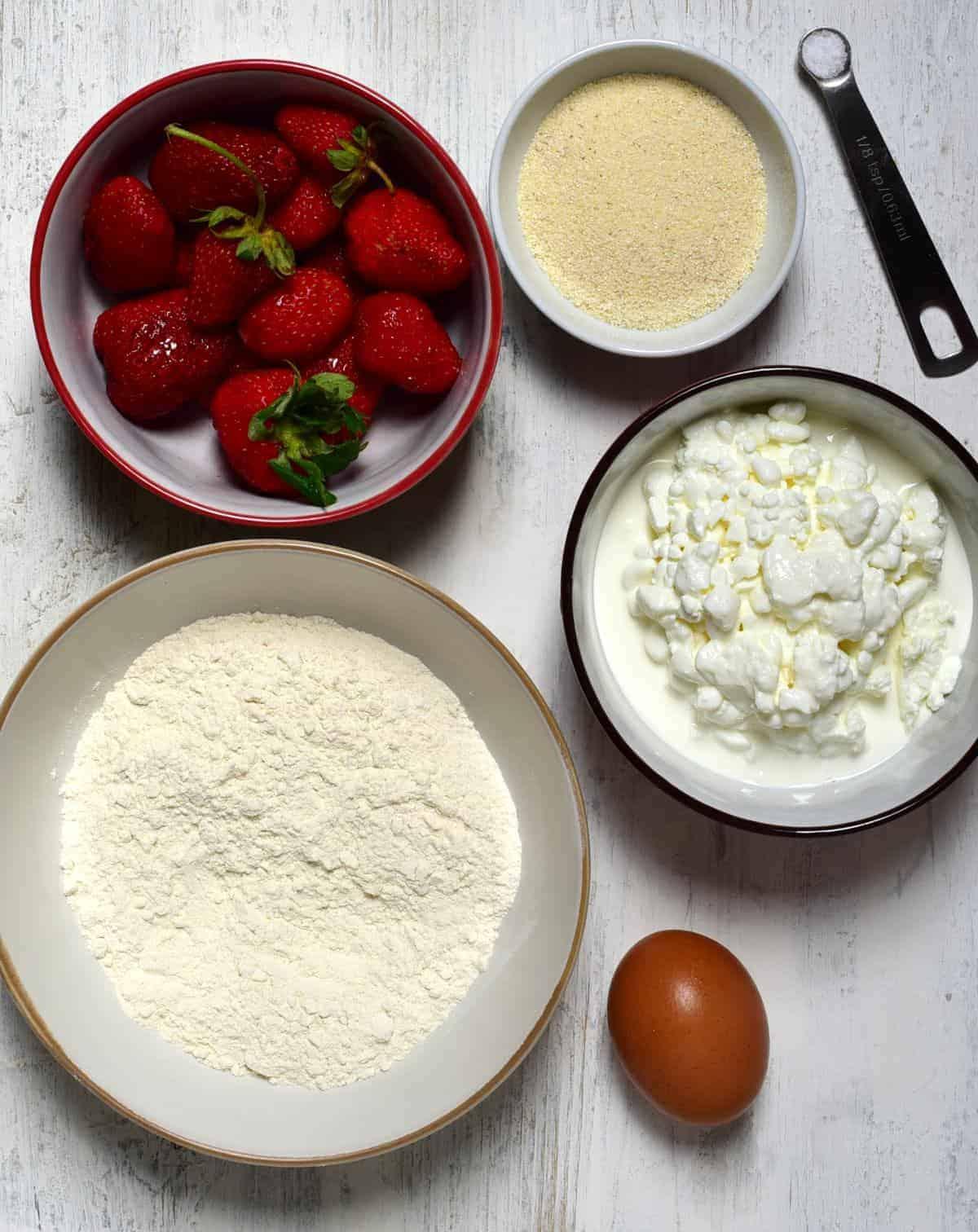 czech strawberry dumplings ingredients